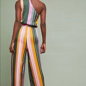 Anthropologie Pants - NWT Anthropologie Pandora Striped Jumpsuit SIZE L